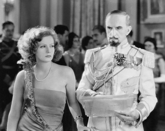 Actress Greta Garbo and Eric Von Seyffertitz in